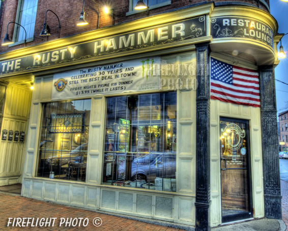 Rusty Hammer;Lounge;Restaurant;Portsmouth;New Hampshire;Photo to art;art;landscape;building