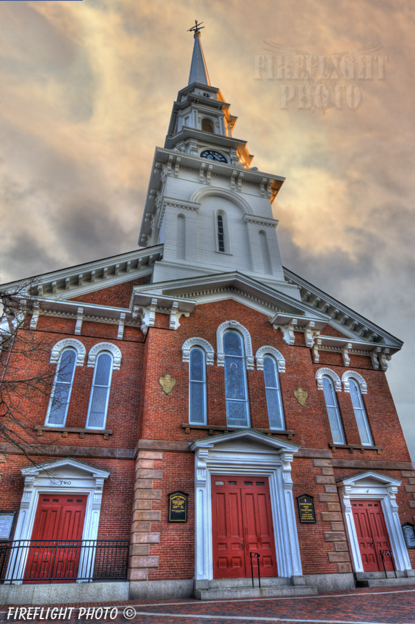 Church;North Church;Portsmouth;New Hampshire;Photo to art;art;landscape;building;artwork