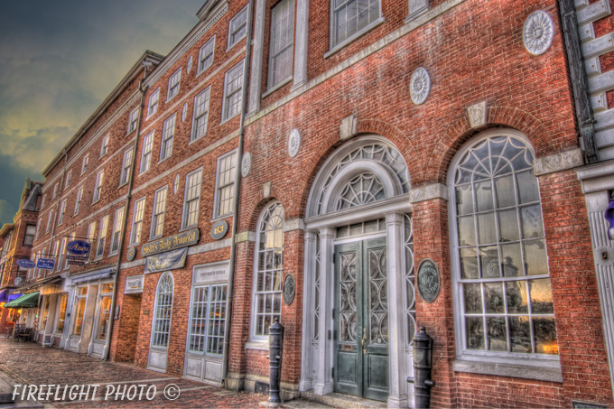 Downtown;Night;Street;Portsmouth;New Hampshire;Photo to art;art;landscape;building;store