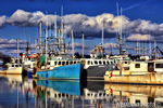 fishing;fleet;boat;Portsmouth;New-Hampshire;Photo-to-art;art;landscape;artwork;reflections;water