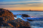 Lighthouse;Maine;Portsmouth;Whaleback;New-Hampshire;Photo-to-art;art;landscape;sunset;rocks;ocean;building;artwork