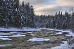 Twin-Mountain;NH;New-Hampshire;Winter;Snow;Sunset;River;HDR;Photo-to-art;landscape;D3X