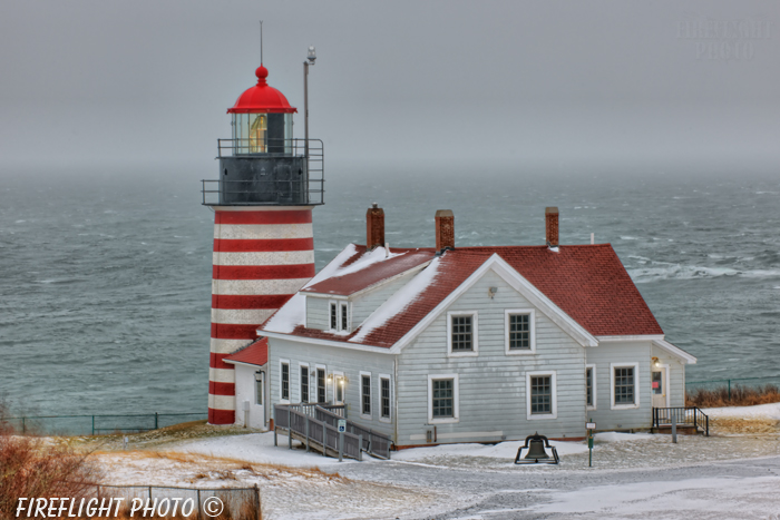 Lighthouse;Maine;Lubec;Light;Headlight;West Quoddy;storm;ocean;Photo to art;art;landscape;building;artwork