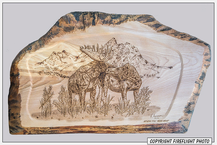 Pyrography Example Moose